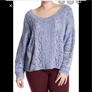 Melrose and Market Spacedye Dolman Sleeve Sweater